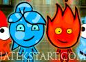 Angry Ice Girl and Fire Boy reptess a megfelelő elemekhez