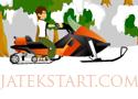 Ben 10 Snowmobile száguldj hóban motoros szánnal