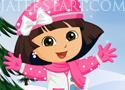 Dora Winter Fashion Dressup öltöztetős játékok lányoknak