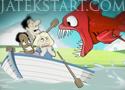 Feed Us Lost Island véres kalandok egy piranjával
