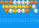 Golden Ball Shooter lődd egymás mellé a labdákat