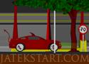 Halloween Racer egyszerű autós játék