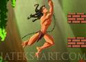 Mario vs Tarzan találd el Super Marióval Tarzant