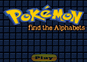 Pokemon Find The Alphabet