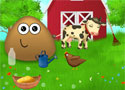 Pou at the Farm gondozd a farmot