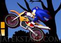 Sonic Halloween Racing motorozz a pályán