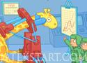 Soviet Rocket Giraffe Játék