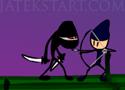 Death Ninja győzedelmesked a nindzsa harcossal.
