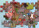 Dinós puzzle játék