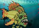 Rombolj pusztíts és zúzz meg harapj Piranhával ez a Feed Us 4