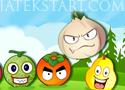 Fruit Faces lőj egymás mellé három egyforma gyümölcsöt