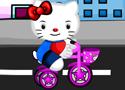 Hello Kitty Bicycle Accident gyógyítsd meg a cicát