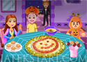 Jack O-lantern Pizza süssél finom pizzát