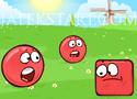 Red Ball 4 mászkálós játék piros gömbbel