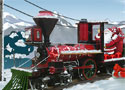 Santa Steam Train Delivery vonattal ajándékokat