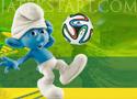 Smurfs World Cup focis ügyességi játékok gyerekeknek
