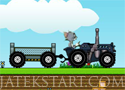 Tom and Jerry Tractor 2 traktorral az úton