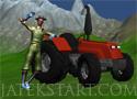 Tractor in Farm farmerrel trakotoron a tanyán