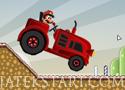 Tractor Mario vs Bullet Bill verseny egy kilőtt golyóval